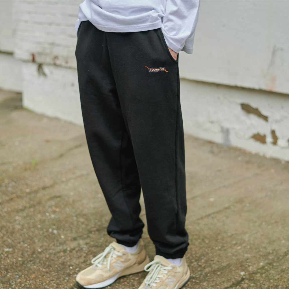 Sewing Symbol Sweat PANTS BLACK