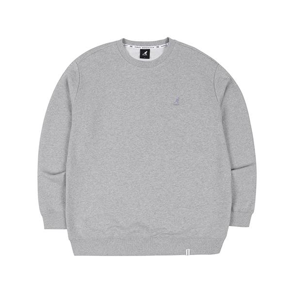 letter printed sweatshirt 1650 MELANGE GREY