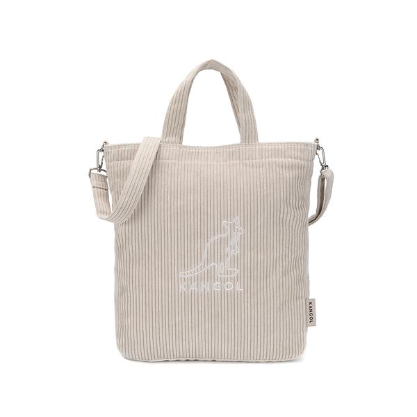 Cord big wale Tote bag 3797 LT.BEIGE