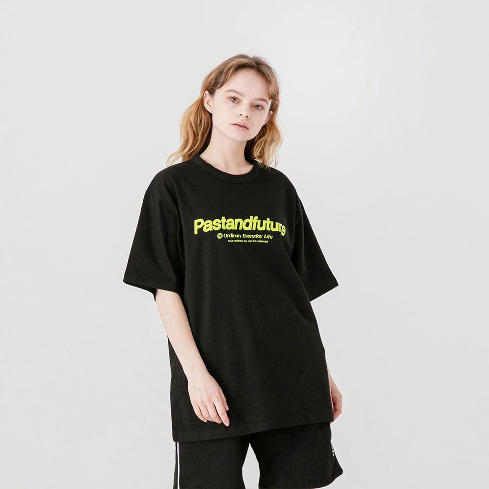 PASTANDFUTURE T-SHIRT BLACK