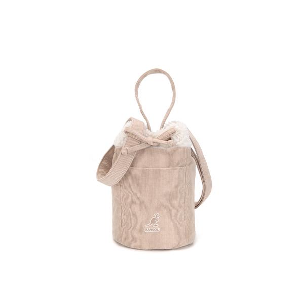 Cord Mix Bucket bag 3798 LT.BEIGE