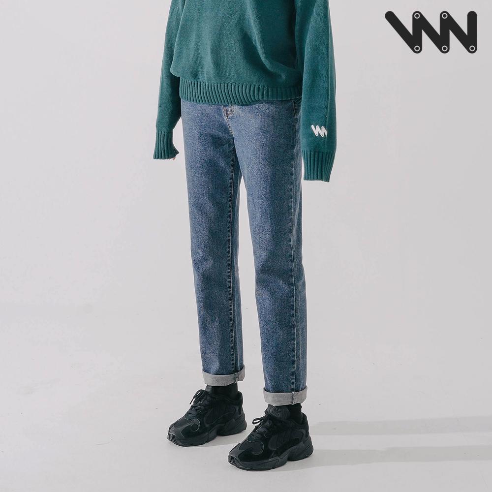 [더블유브이프로젝트] 믹스드 데님팬츠 블루 CJLP7426
