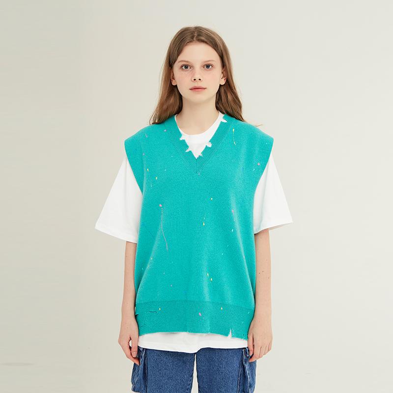 [unisex] knit vest (mint)