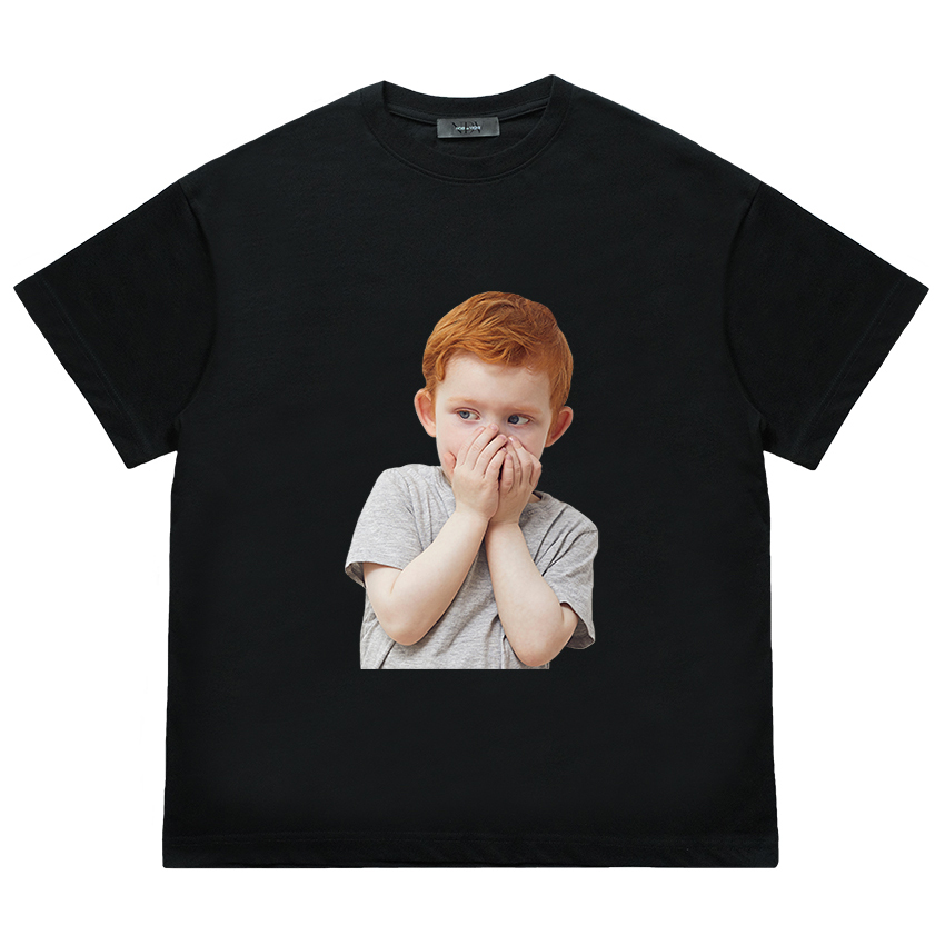 [누아드비뉴] Shy Boy Face Short Sleeve (Black)