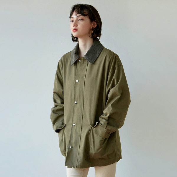 CORD OVER SAFARI JACKET_KHAKI