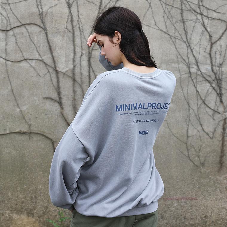 미니멀프로젝트 피그먼트 시그니쳐 오버핏 맨투맨 MMT115 / 4color w