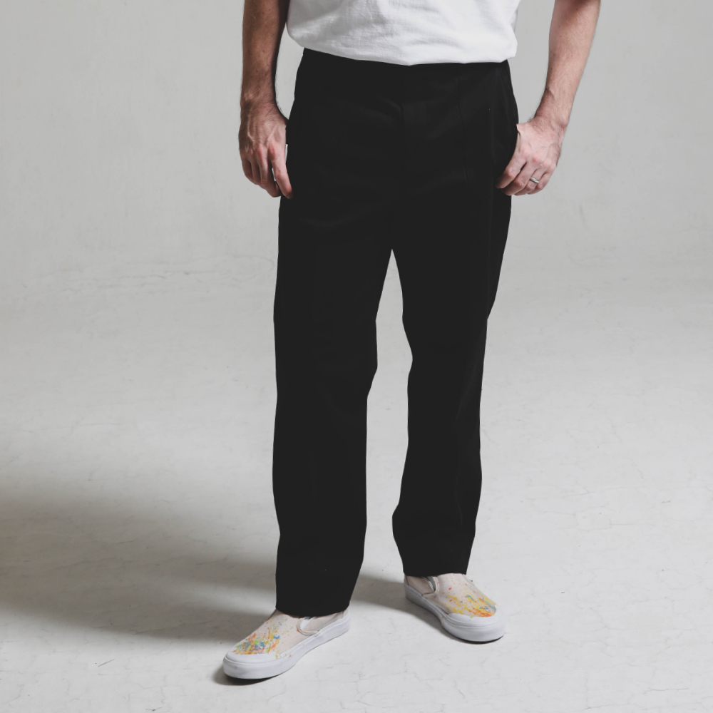 Double stitch STG PANTS_BLACK