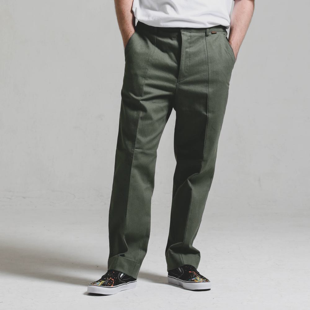 Double stitch STG PANTS_KHAKI