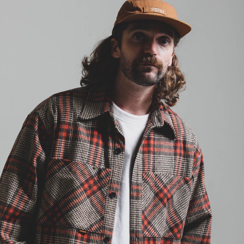 NEWTRO Wide Pocket Shirt Jacket_ORANGE