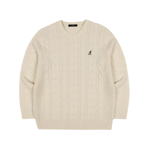 Aran cable Sweater 1812 IVORY