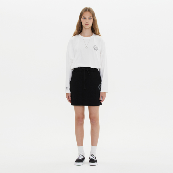 COIN LOGO MINI SKIRT_BLACK