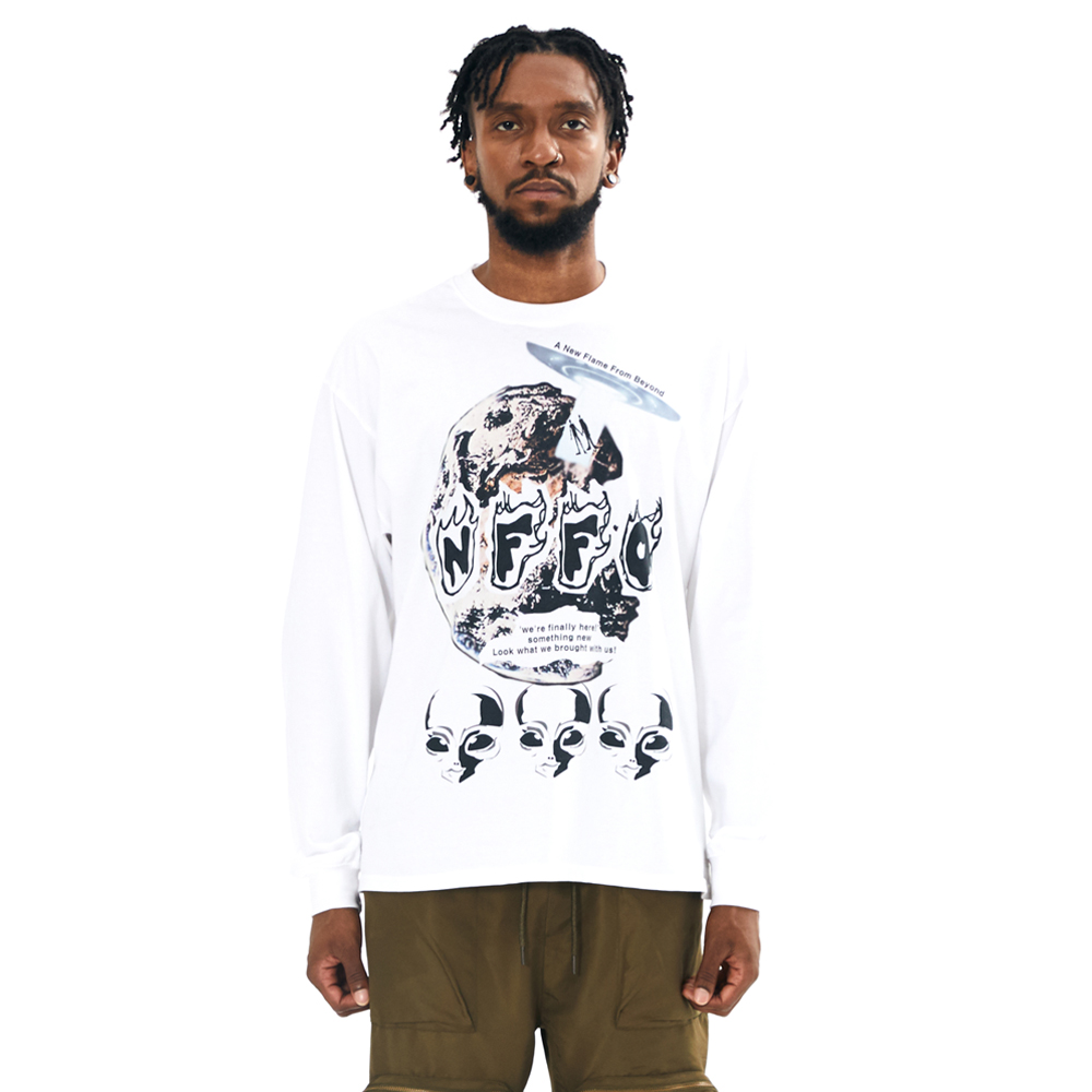 NFFO 2020FW WE LONG SLEEVE WHITE