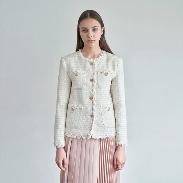 20FW tweed jacket - ivory