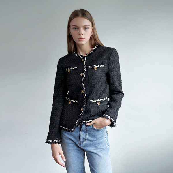 20FW tweed jacket - black