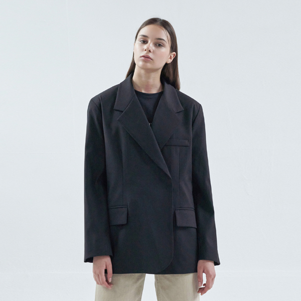 20FW over snap jacket - black