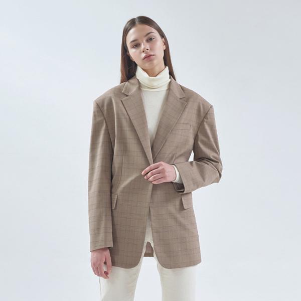 20FW check pattern jacket