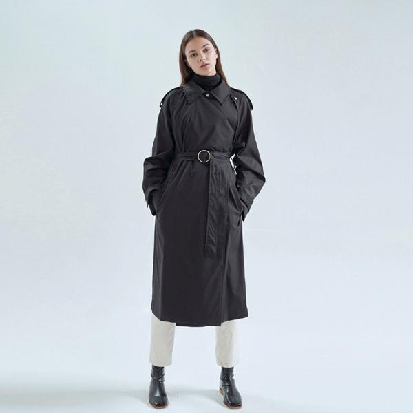 20FW frank trench coat - black