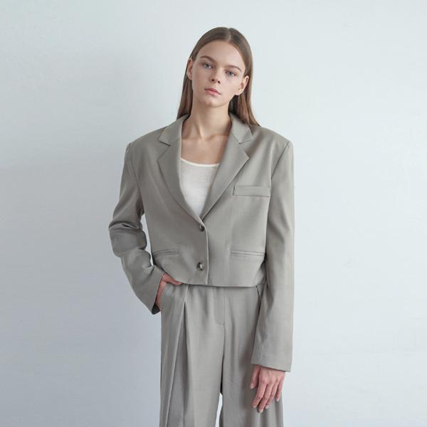 20FW trendy short jacket - khaki