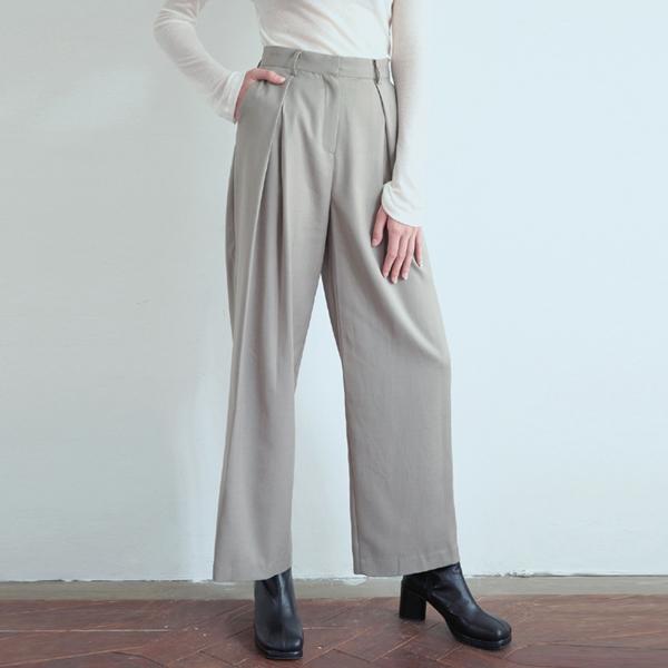 20FW trendy slacks - khaki