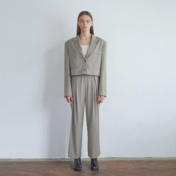 20FW trendy setup suit - khaki