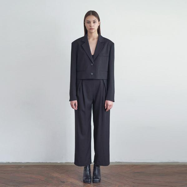 20FW trendy setup suit - black