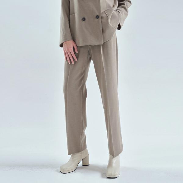 20FW smart setup suit pants - khaki