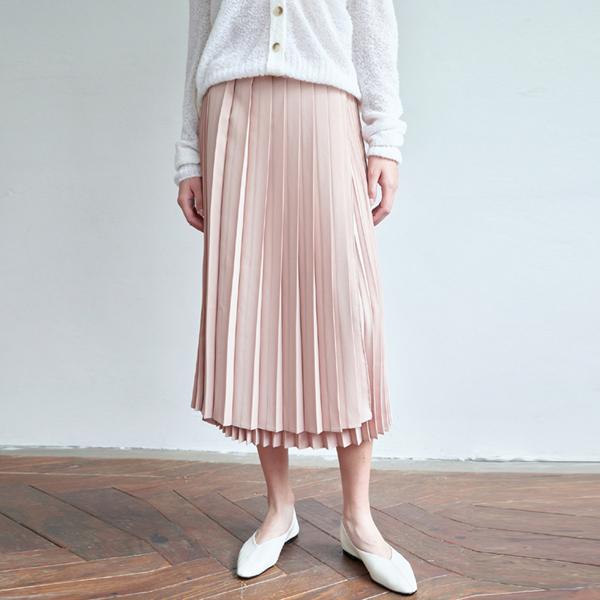 20FW flitz unbal skirt - beige