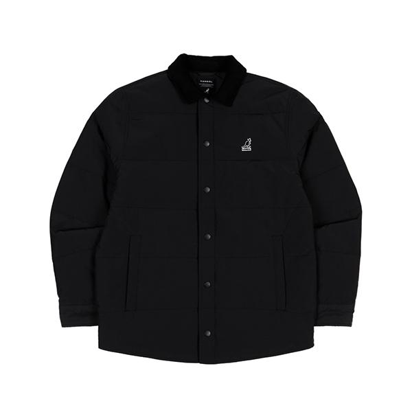 Corduroy Combi shirtket 7044 BLACK