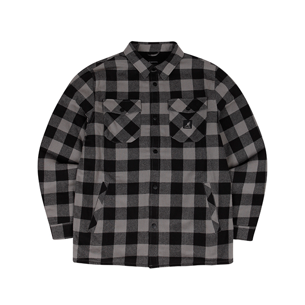 Buffalo check shirtket 7043 BLACK