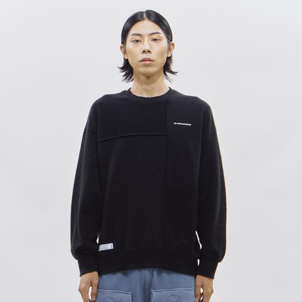 [단독할인]하프 리버스 스웨트 셔츠[블랙]