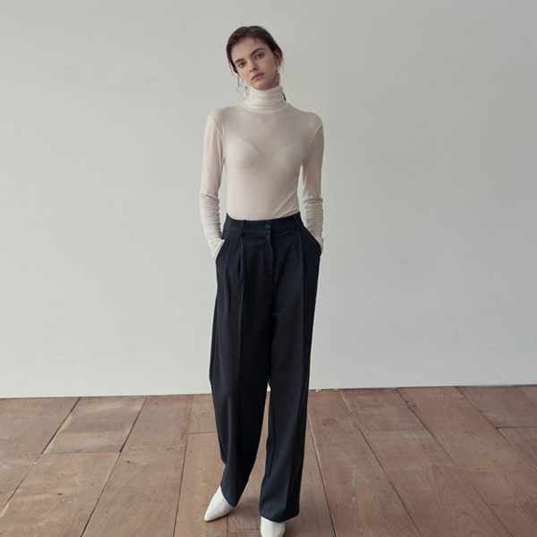 SLIM TURTLENECK T-SHIRTS_IVORY