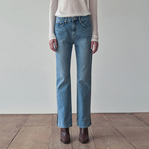 MINIMAL SLIT POINT DENIM PANTS