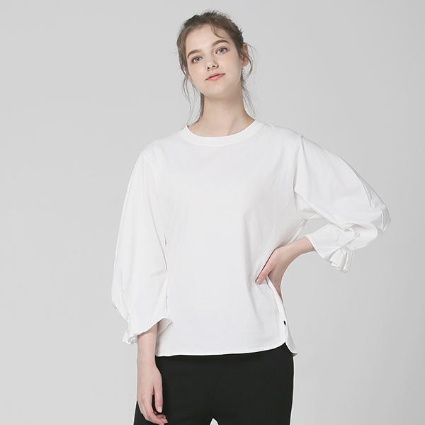 [플라이런웨이]FW 솔리드 퍼프 티셔츠_WHITE