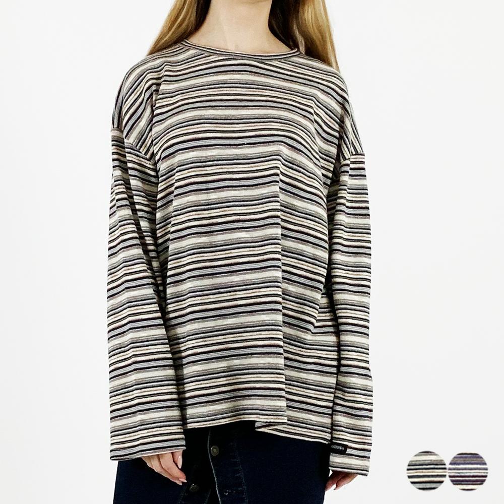 에스닉 컬러 긴팔 티셔츠