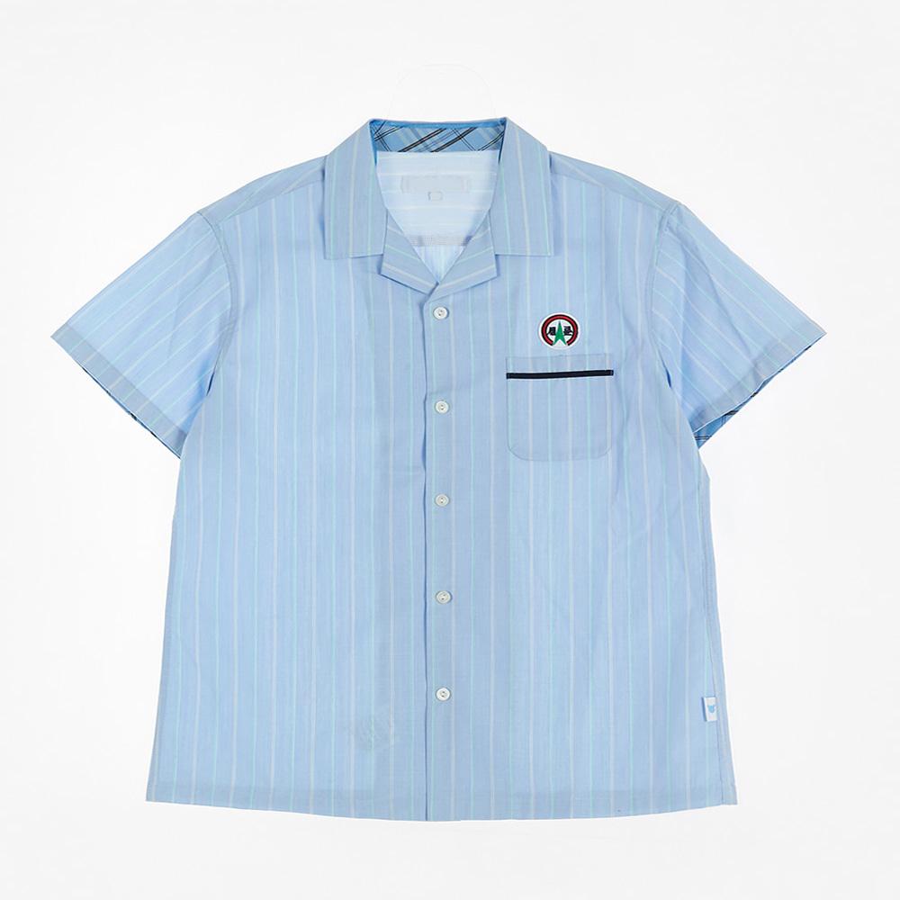 [교복아울렛] 블루 스트라이프 하복 남자셔츠(세륜중)