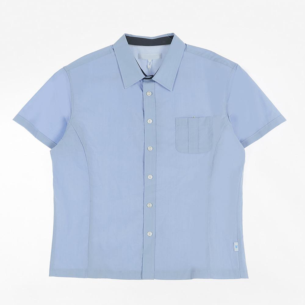 [교복아울렛] 블루 하복 남자셔츠 (송파공업고) 교복
