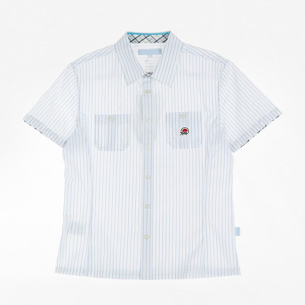 [교복아울렛] 화이트 스트라이프 하복 남자셔츠 교복