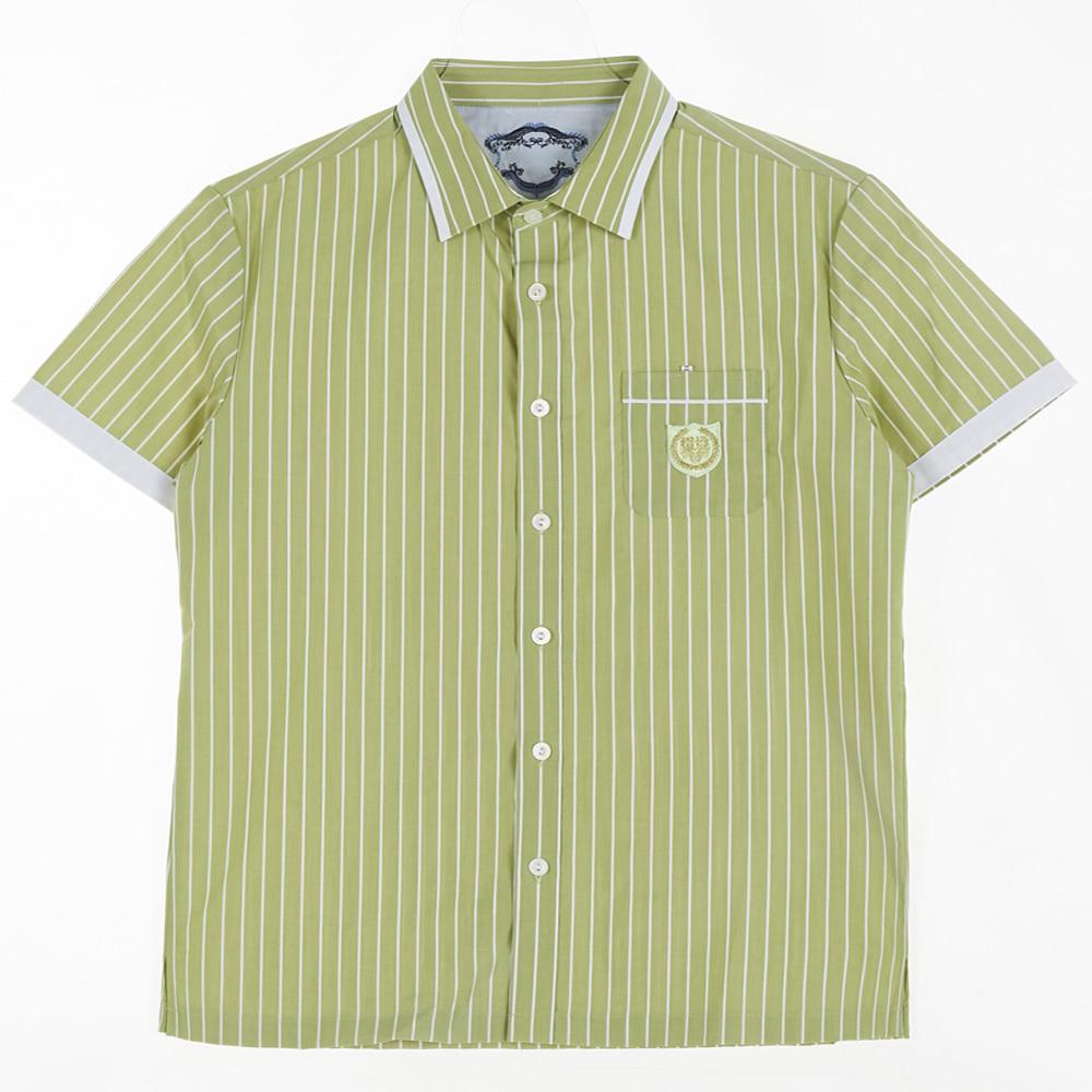 [교복아울렛] 그린 스트라이프 반팔 셔츠 (잠신중)