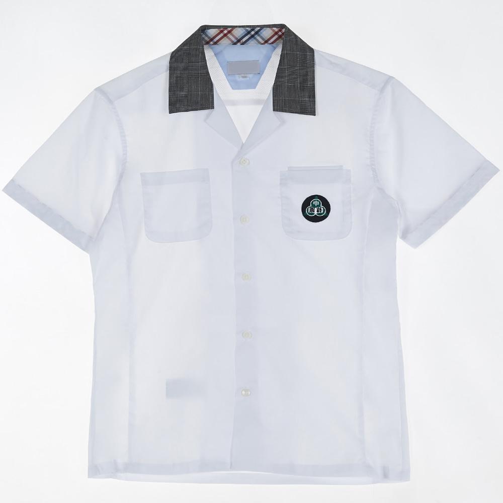 [교복아울렛] 포켓 체크 반팔 셔츠(정발중) 교복 학교