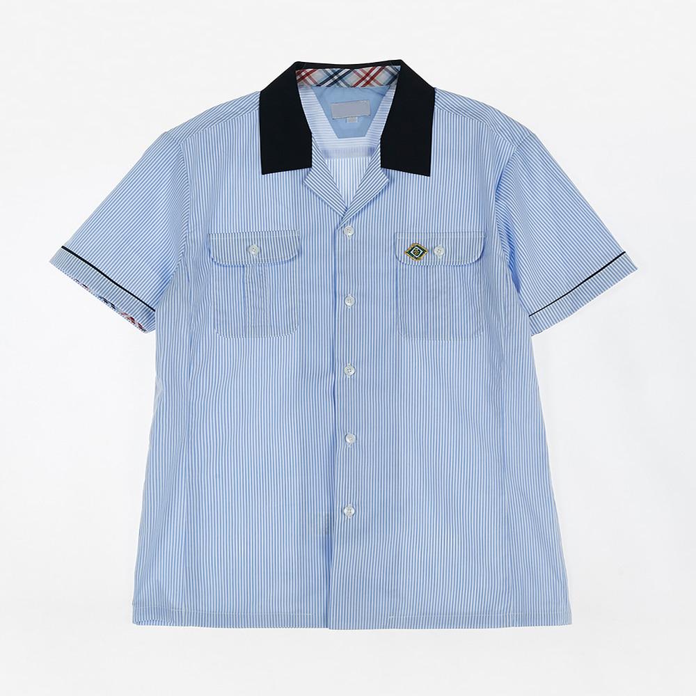 [교복아울렛] 블루 스트라이프 반팔 셔츠 (미금중)