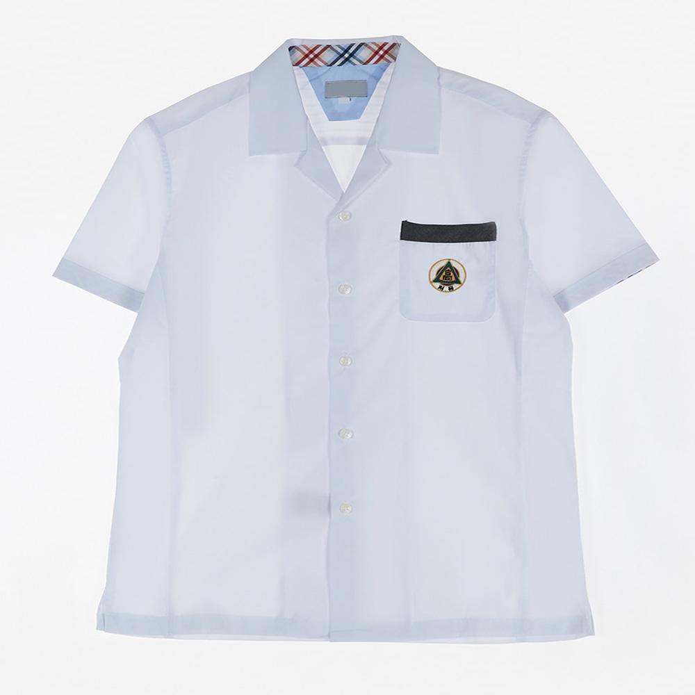[교복아울렛] 포켓 라인 반팔 하복 셔츠 (저동고)