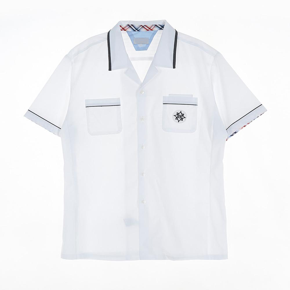 [교복아울렛] 네이비 라인 포인트 남자 반팔셔츠