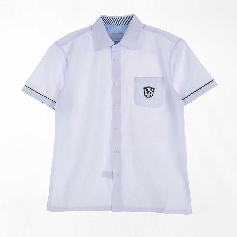 [교복아울렛] 팔라인 각카라 반팔 남자 셔츠 (청원고)