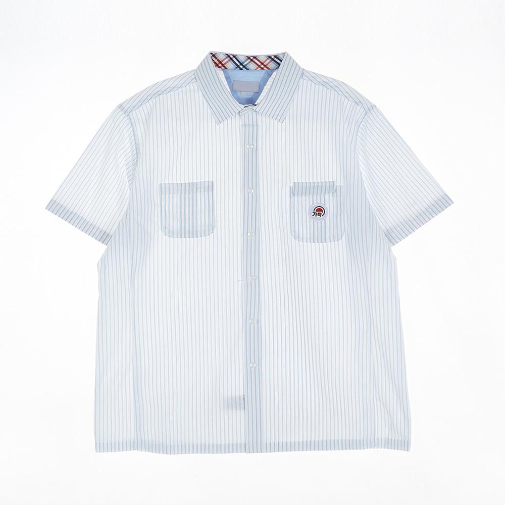 [교복아울렛] 스카이 스트라이프 남자 반팔셔츠 교복