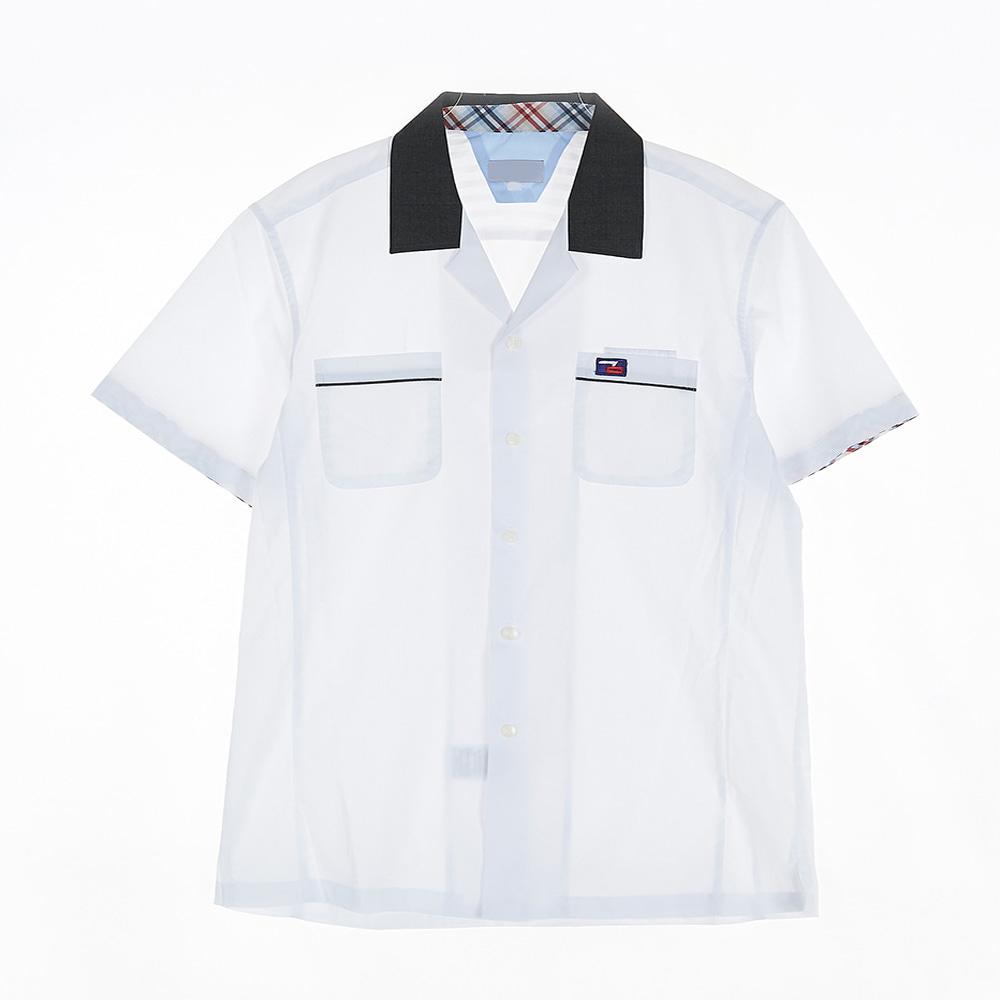 [교복아울렛] 배색카라 남자 반팔셔츠 (광문고) 교복
