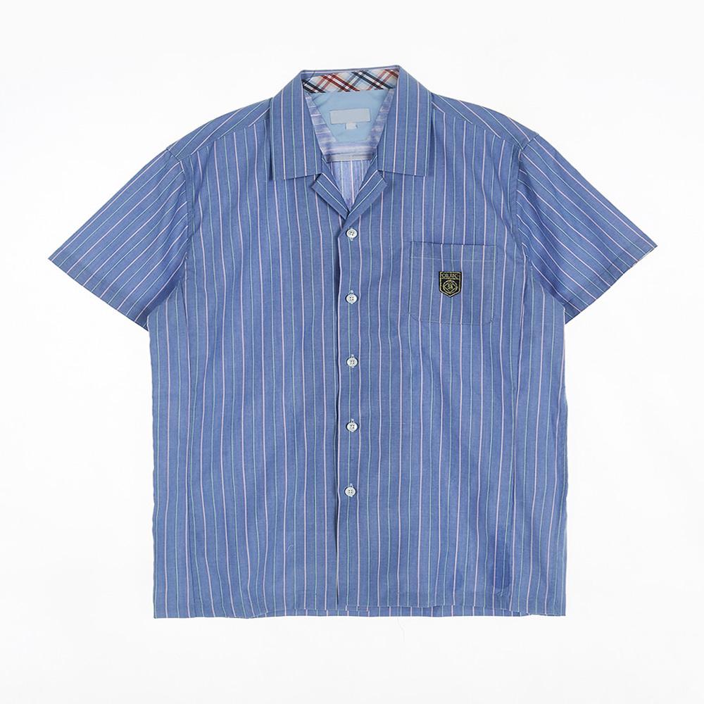 [교복아울렛] 블루 스트라이프 남자 반팔셔츠(인창고)