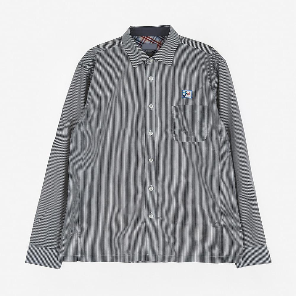 [교복아울렛] 블랙 스트라이프 셔츠 (문정고) 교복