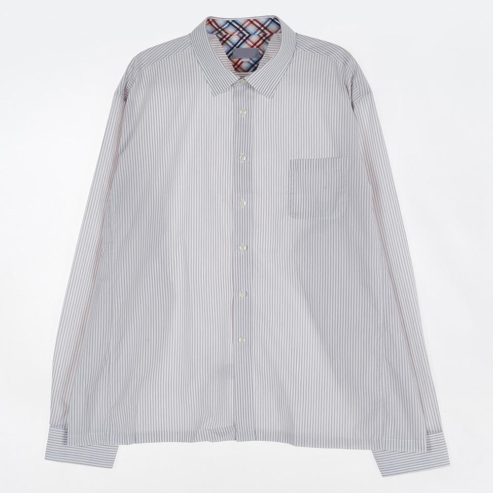 [교복아울렛] 연그레이 스트라이프 셔츠 (잠신중)