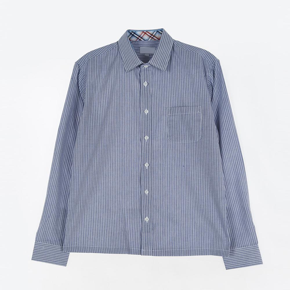 [교복아울렛] 인디 블루 스트라이프 셔츠 (신천중)