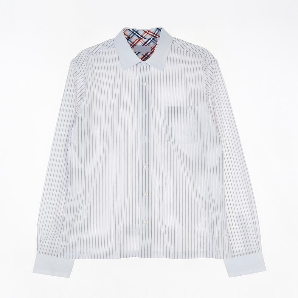 [교복아울렛] 스트라이프 동복 셔츠 (세륜중) 교복